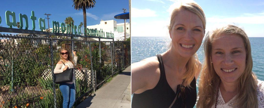 Santa Monica piren och odlingar