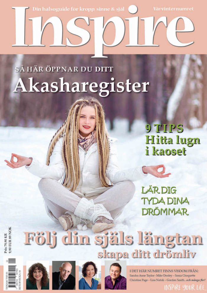 "Zoë's frågespalt ""Fråga Zoë"", Inspire tidningen, februari 2019"